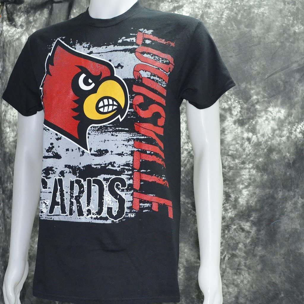 University of Louisville Super Cards on Black Shirt
