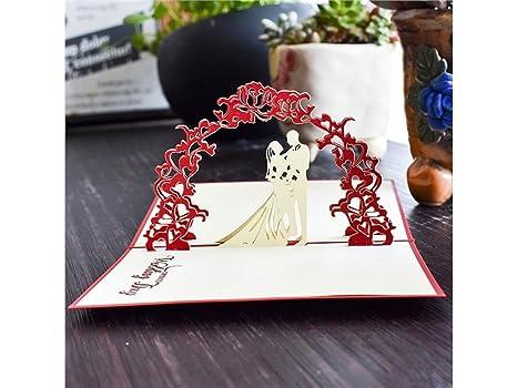 Biglietto Auguri Matrimonio Pop Up : Biglietti dauguri 3d pop up biglietto di auguri di matrimonio pop