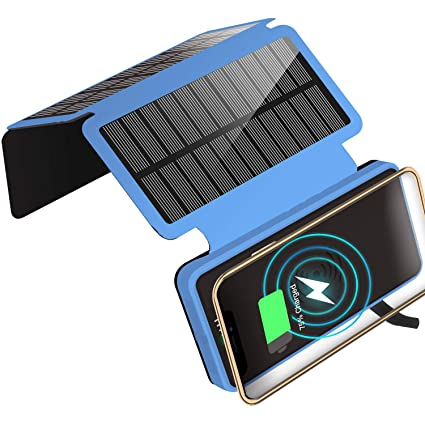 Amazon.com: Cargador Solar 20000mAh Portátil Solar Power ...