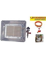 Rothenberger Industrial 35984 inkl. Schlauch & Regler ECO - Gasheizstrahler, silber