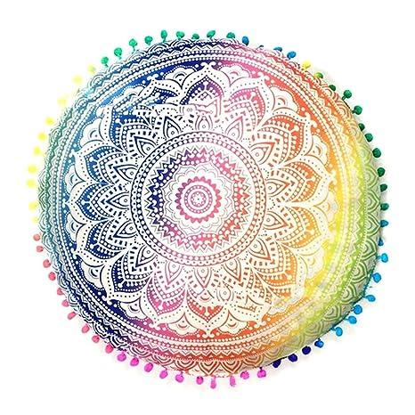 lzndeal Cushion Covers Round Retro Flowers carpetas de cojín ...