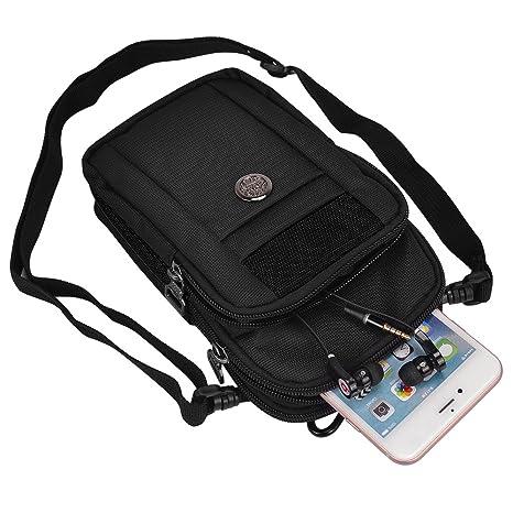 premium selection 5072d 2d646 Outdoor Sports Hiking Cellphone Travel Shoulder Bag for iPhone X/8 Plus/7  Plus/7s/6s (Black)