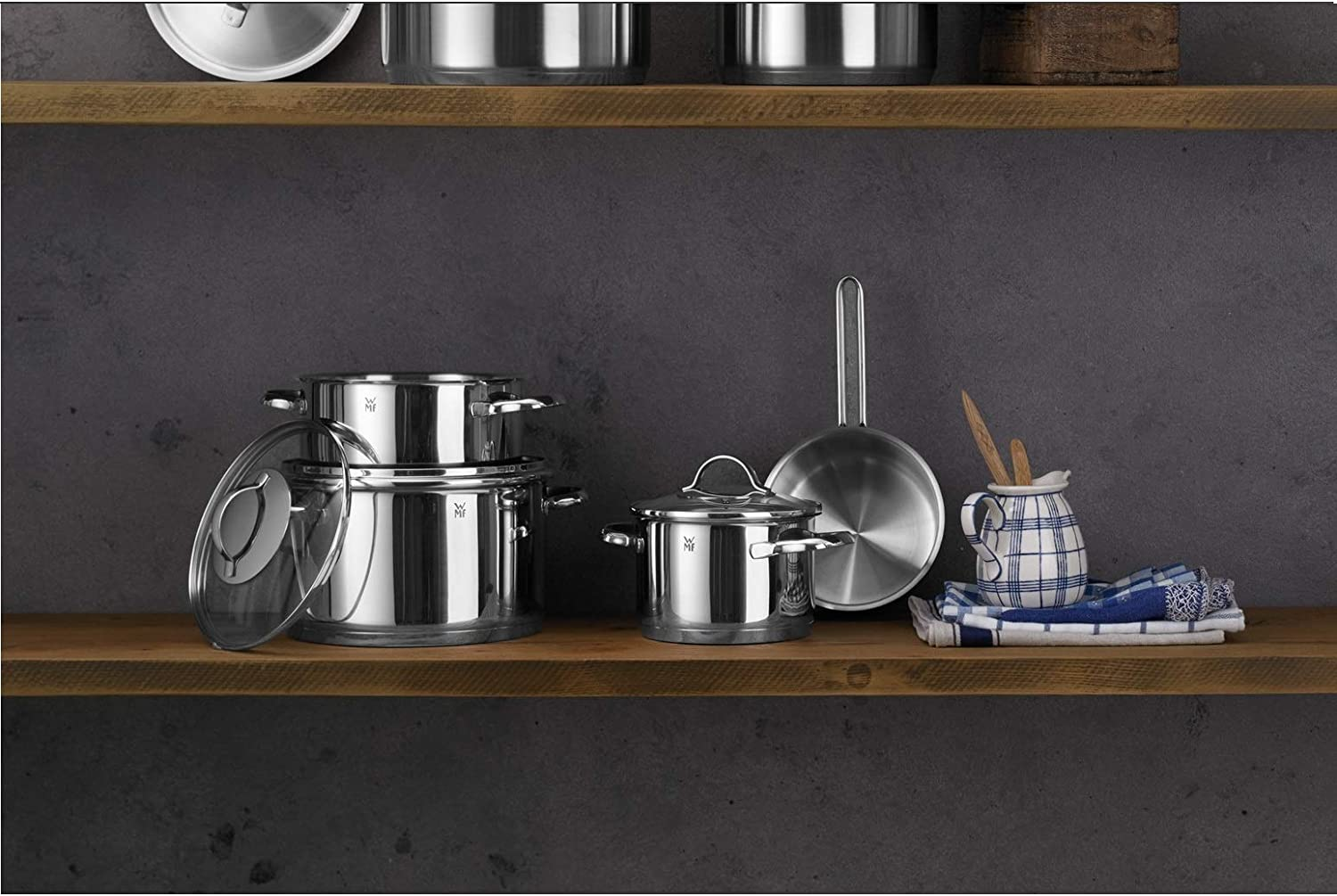 WMF stainless steel pots and pans