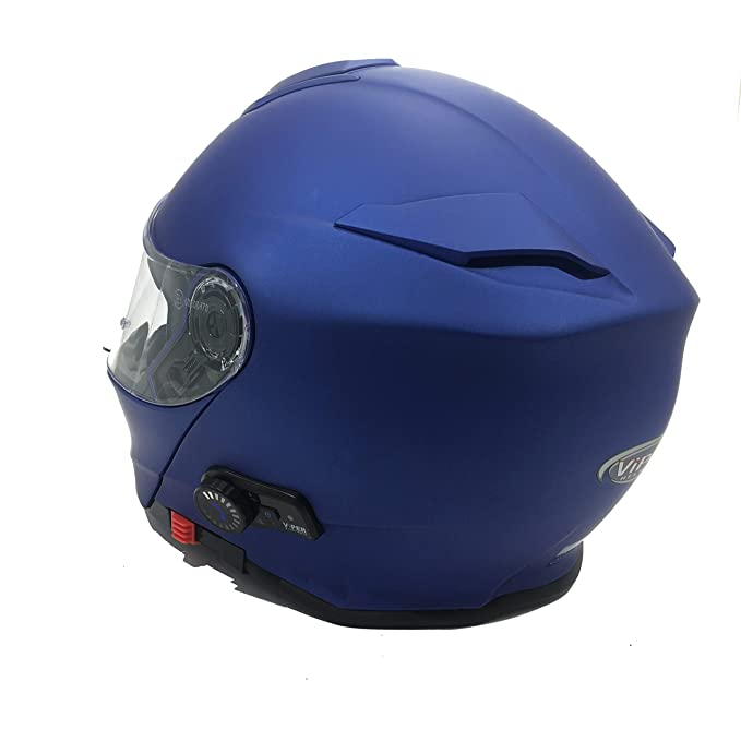 S VIPER MOTO RS-V171 BLUETOOTH 3.0 MODULAR ECE 22-05 HOMOLOGADO ACU DOBLE VISERA URBANO TURISMO CASCO FOSH MATT MIDNIGHT AZUL EDICI/ÓN LIMITADA 55-56 CM