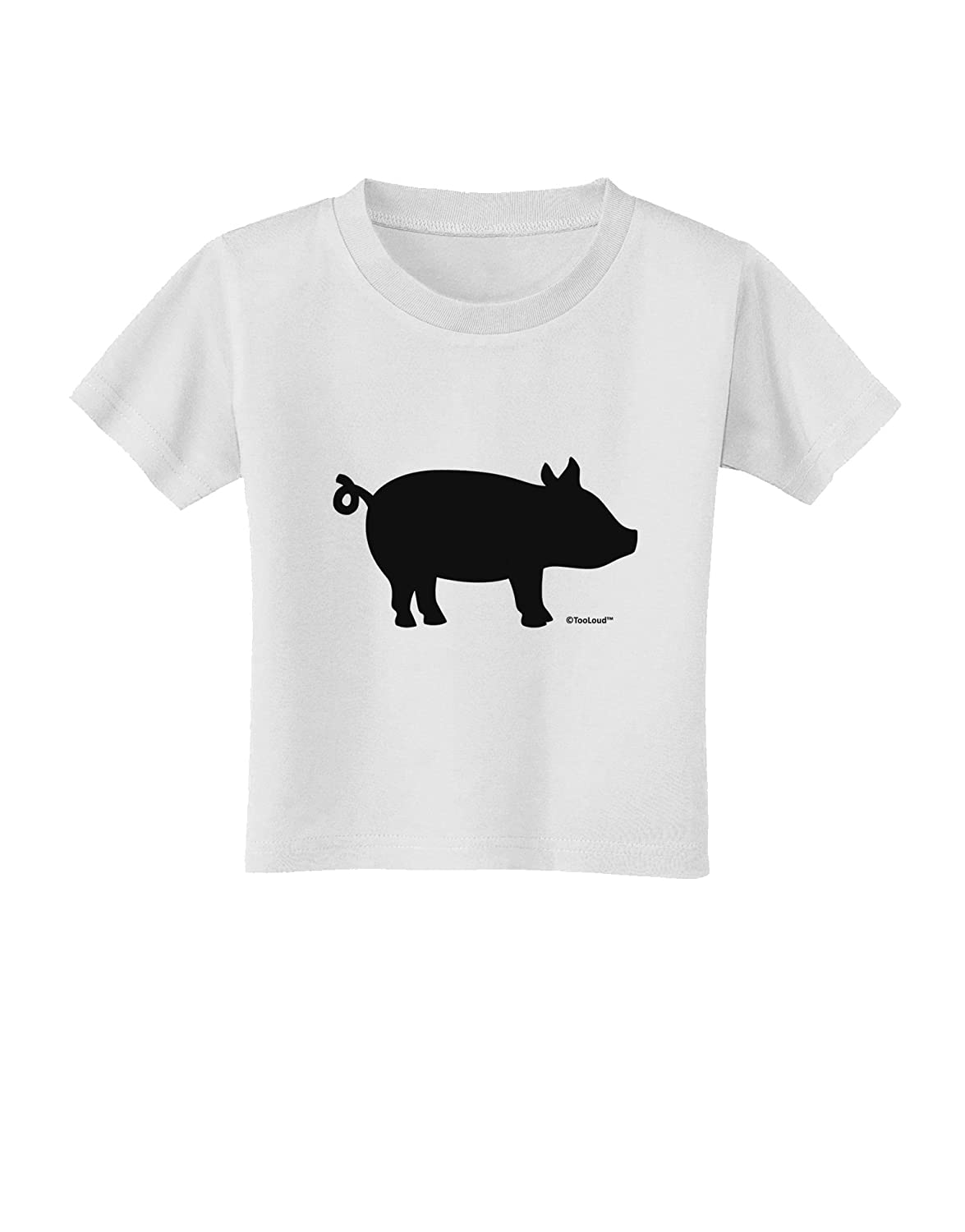 TooLoud Pig Silhouette Design Toddler T-Shirt