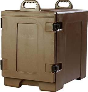 Carlisle PC300N01 Cateraide End-Loading Insulated Food Pan Carrier, 5 Pan Capacity, Brown