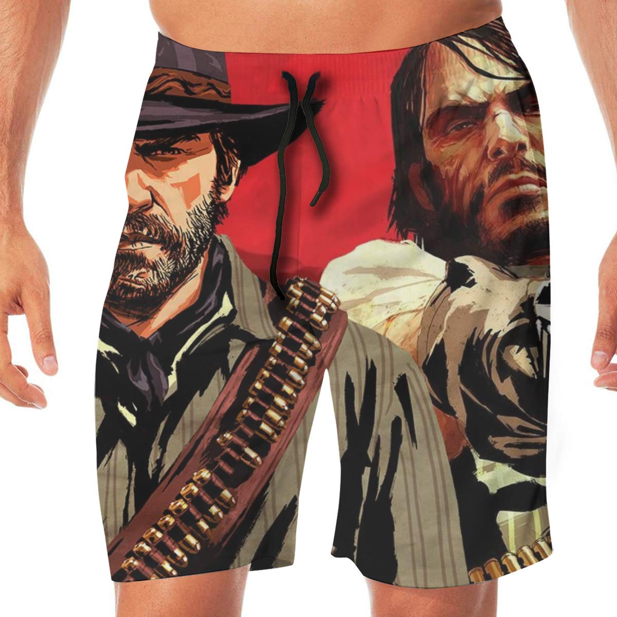 FANGHUABATHRHSQ Red-Dead-Redemption 3D Print Mens Board Beach Shorts Holiday Swimwear Pants Boardshort Swim Trunks Bathing Suits