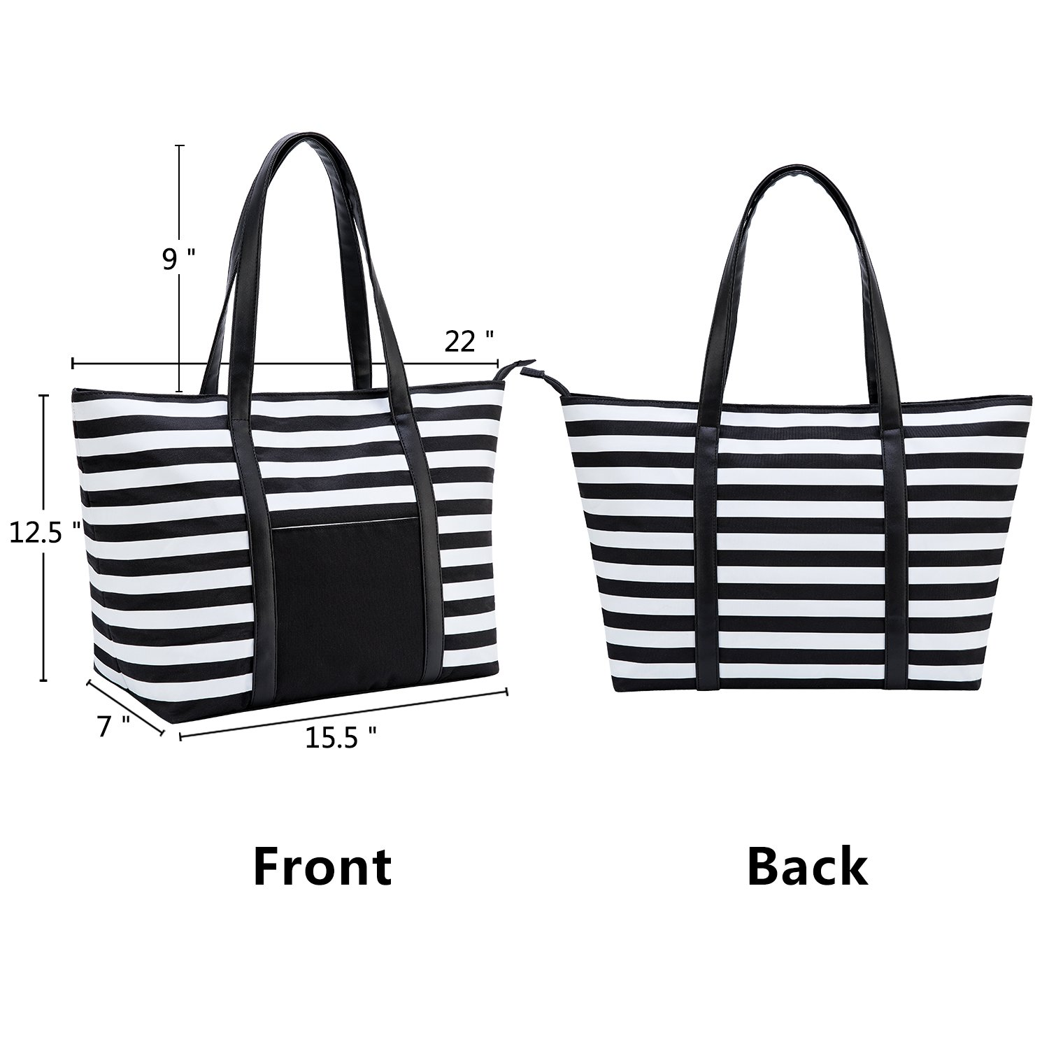 7fa5d3a480 Cieovo Large Beach Bag For Women Waterproof Oxford Tote Bags With ...