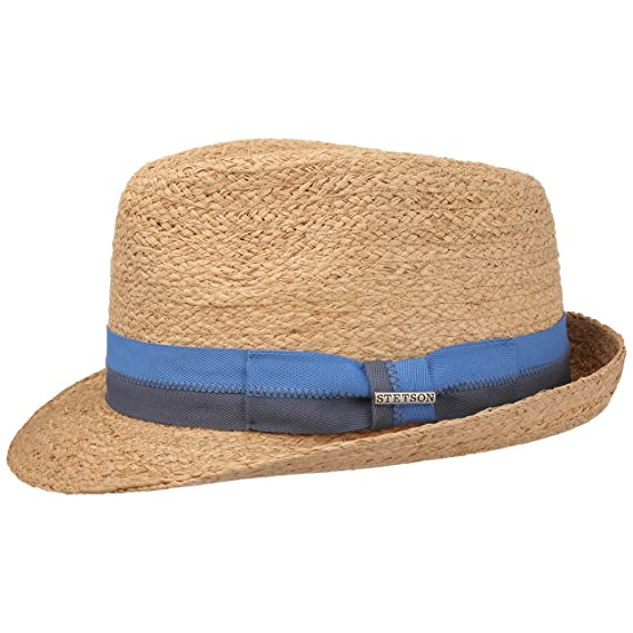 e13f38f21c74a7 Stetson Laverne Trilby Raffia Hat Sun Beach: Amazon.co.uk: Clothing
