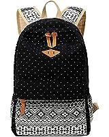 Amazon.com: Hitop Geometry Dot Casual Canvas Backpack Bag