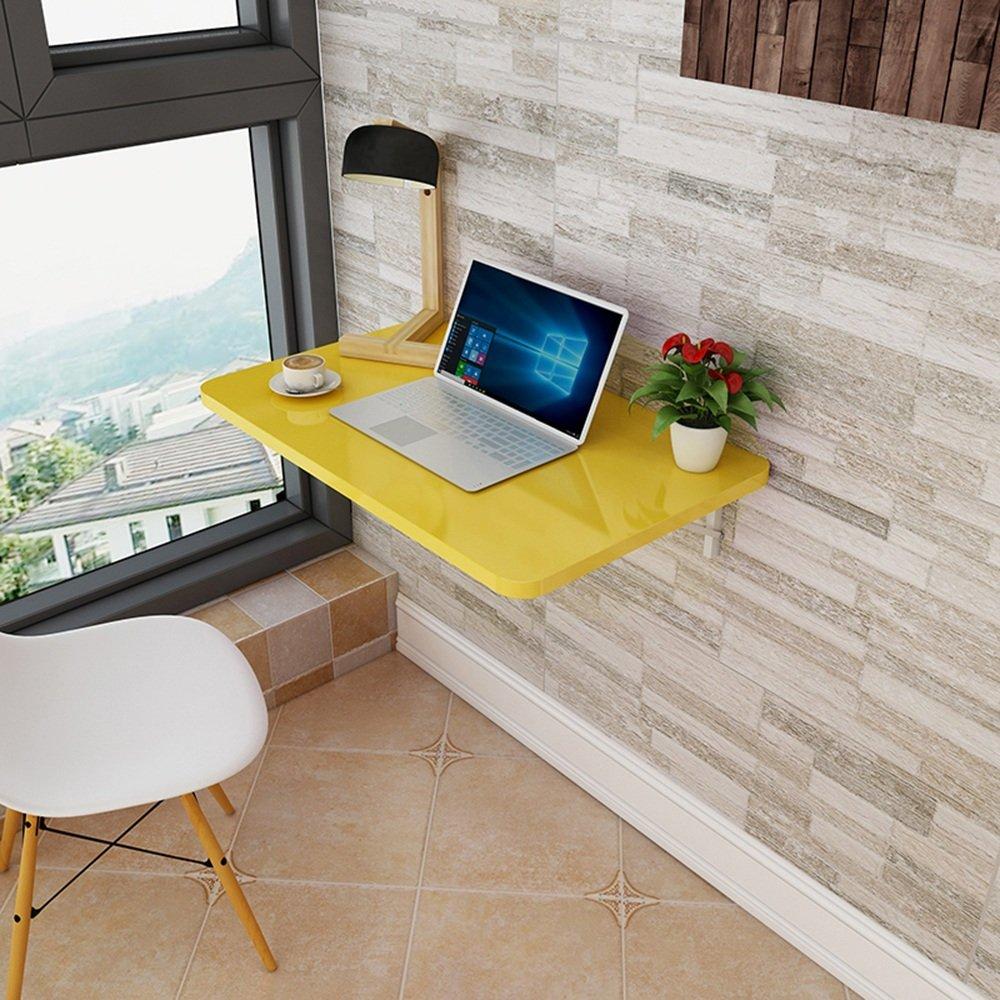 マチョン コンピュータデスク 折りたたみ式の壁掛け式デスク さまざまな色で利用可能 (色 : イエロー いえろ゜, サイズ さいず : 100cm*50cm) B07DZQ35J8 100cm*50cm|イエロー いえろ゜ イエロー いえろ゜ 100cm*50cm