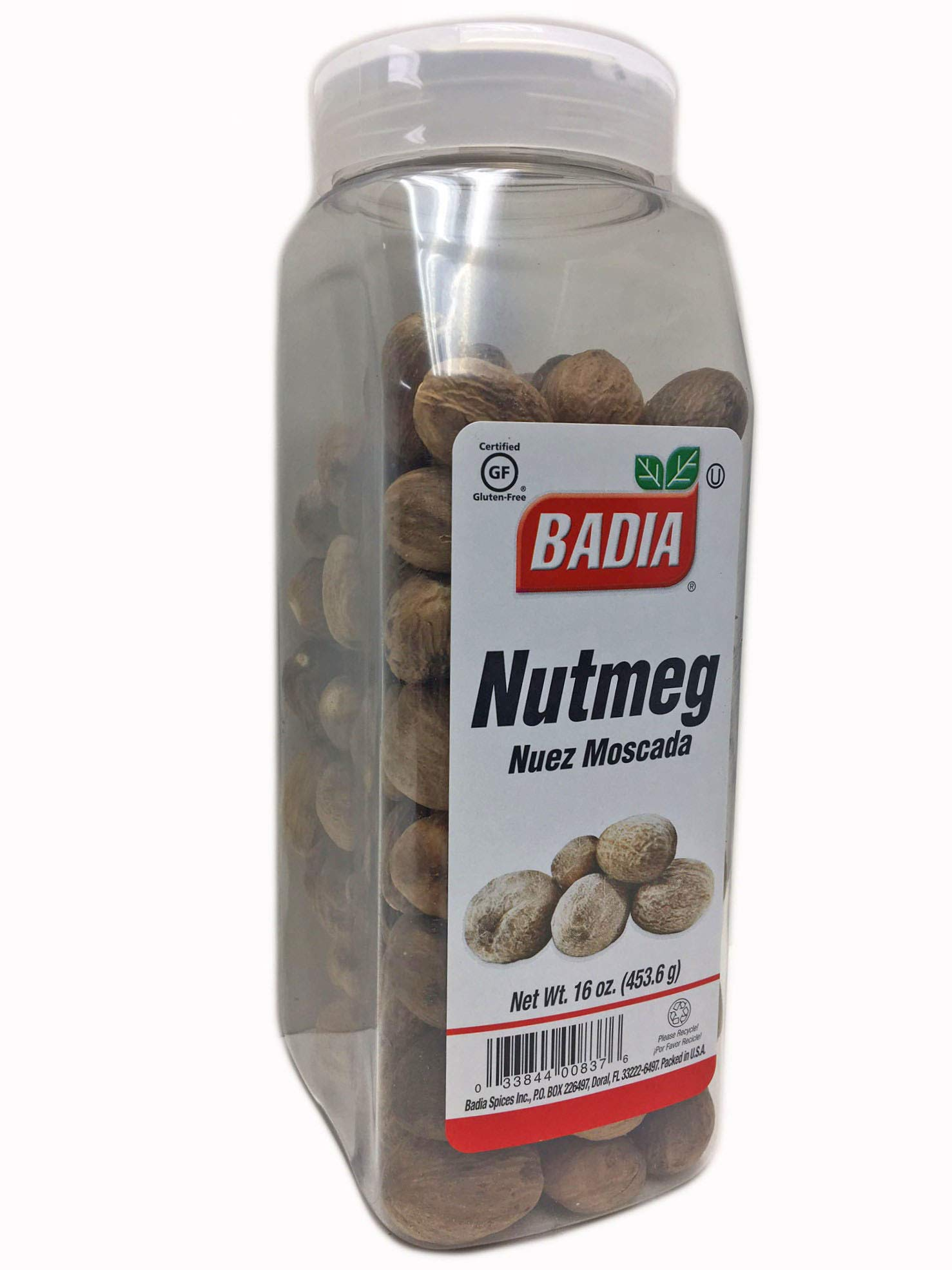 2 Pack Whole Nutmeg/Nuez Moscada Entera Kosher 2x16 oz