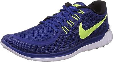 Nike Free 5.0, Zapatillas de Running para Hombre, Azul/Negro/Blanco (Blue Lagoon/Black-Copa-White), 47 EU: Amazon.es: Zapatos y complementos
