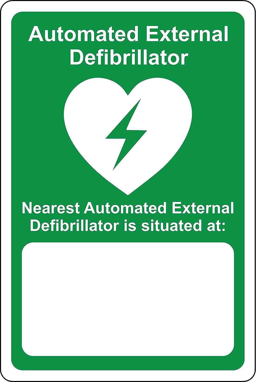 Aed Sicherheits Schild Your Nearest Automatic External Defibrillator Is Located At Notfallschild 1 2 Mm Starrer Kunststoff 200 Mm X 150 Mm Baumarkt