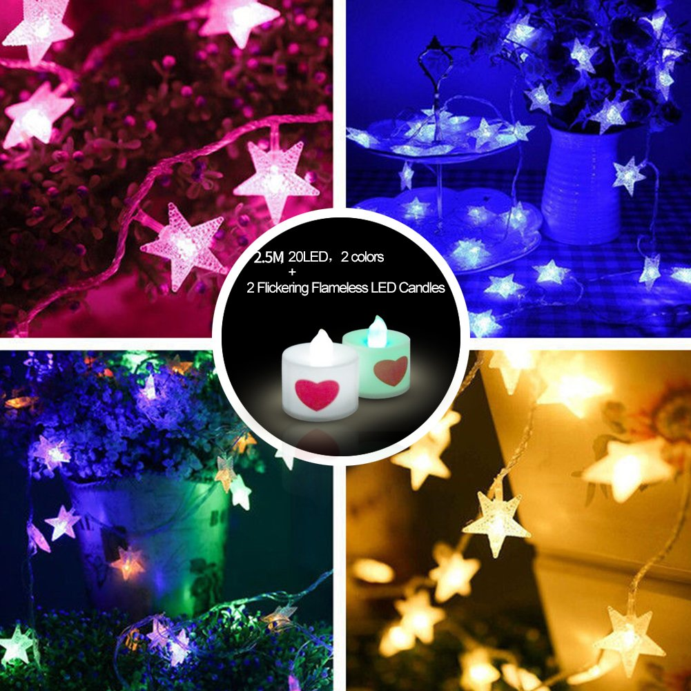 Artworks Christmas Cards.Galleon 2 5m 20 Led Battery Powered Christmas Star Light