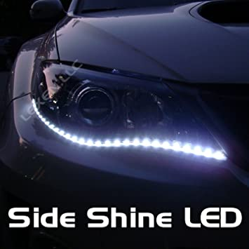 Amazon led white 2x 24 under eyes strip lights 30smd automotive aloadofball Image collections