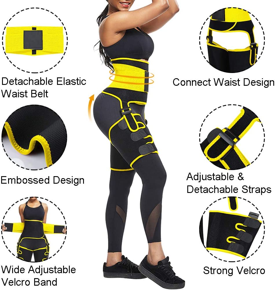 Women Neoprene Thigh Support Compression Waist Shaping Thigh Trimmer Sports Protector Groin Sciatica Relief Wrap