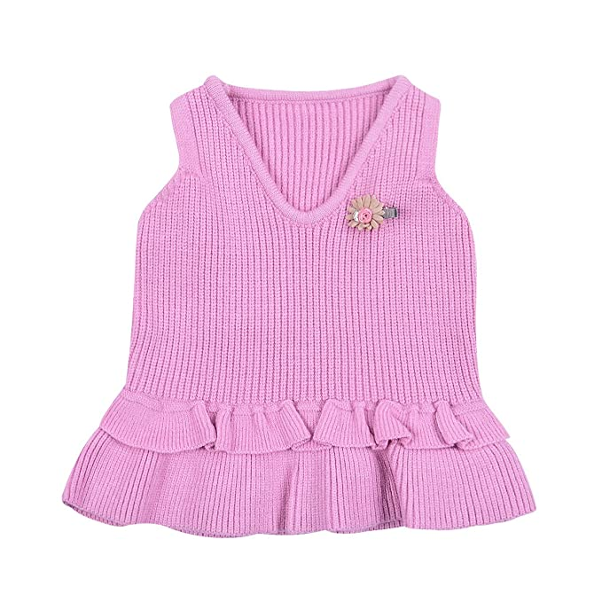 94ed85a1c189 Amazon.com  little dragon pig Toddler Baby Girl Sweater Vest ...