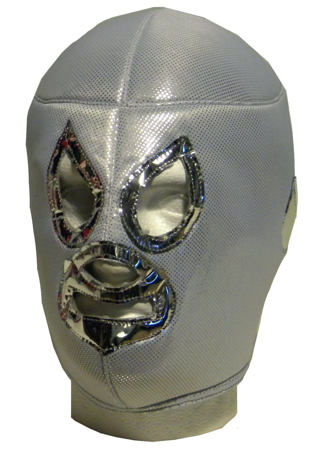 WRESTLING MASKS UK Men's Silver Santo El - Mexican - Tie Up Mask One Size Multicoloured by Wrestling