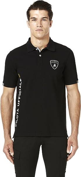 Automobili Lamborghini Hombre Pilota Polo Shirt Black S ...
