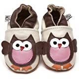 Soft Leather Baby Shoes Owl 12-18 months