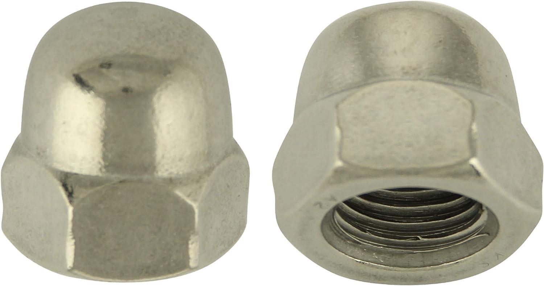 Edelstahl A2 V2A Eichelmutter 20 St/ück BiBa-Schrauben Hutmuttern hohe Form M3   DIN 1587