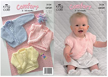 c39fb397d Amazon.com  King Cole Comfort Aran Knitting Pattern Babies Knitted ...