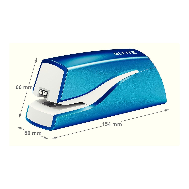 Leitz NeXXT Series Wow Battery Operated 10 Sheet Stapler - Blue: Amazon.es: Oficina y papelería