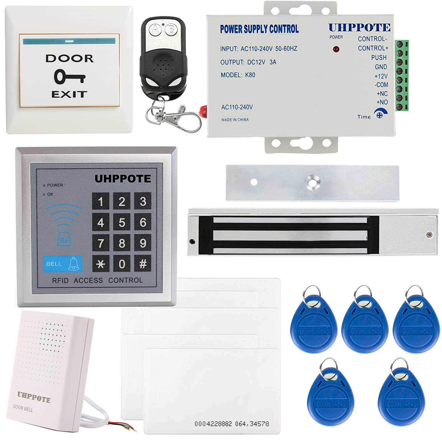 Amazon.com: UHPPOTE Full Complete 125KHz EM-ID Card 1 Door Security ...