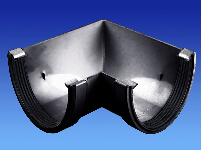 OSMA Black 113mm Angle 90 Degree for DeepLine 4.5:2.5 Gutter System 9T903b