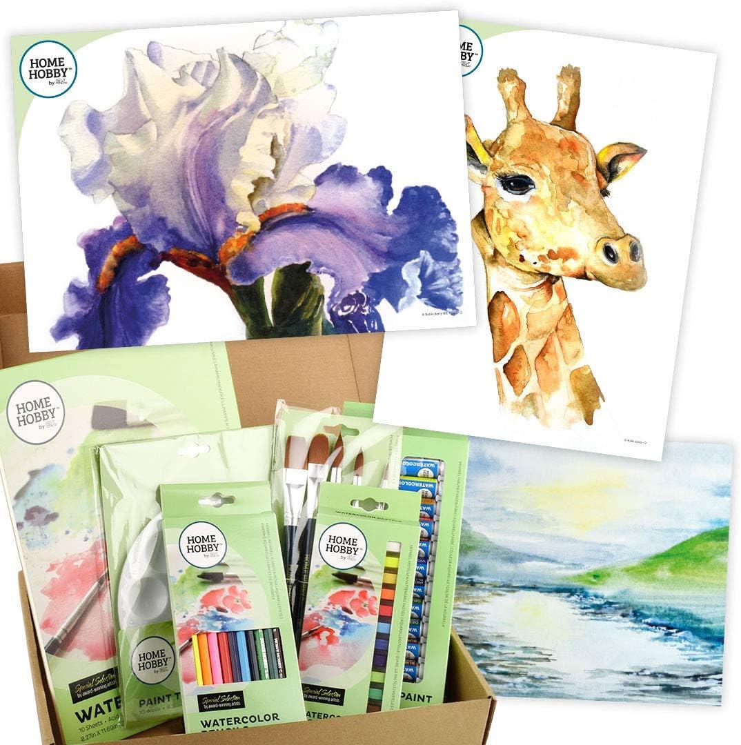 Multiple, 53 Pcs HomeHobby by 3L Watercolor Studio Kit ∙ Trio of Pears by Kristin Ranney ∙ Beginner