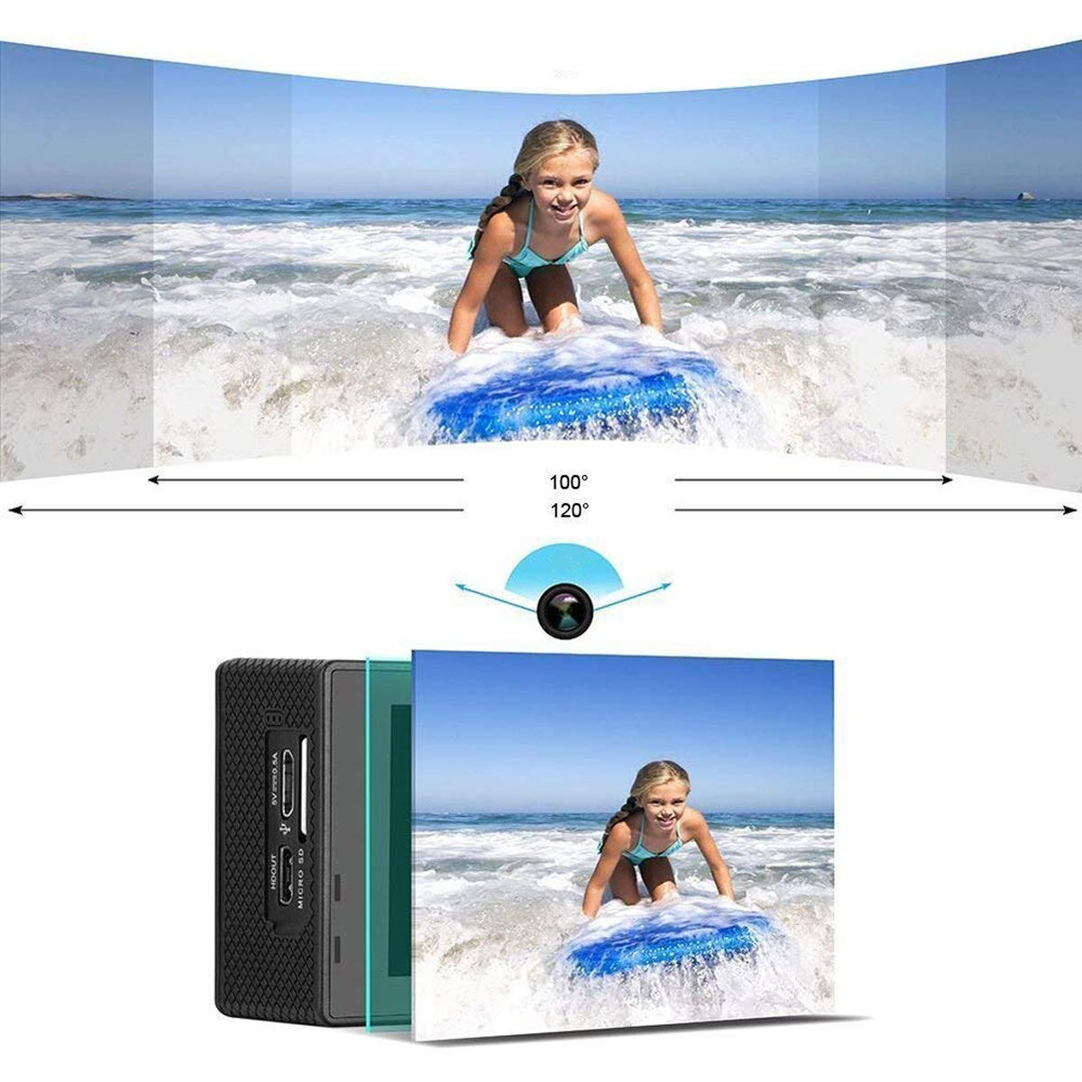 Nesolo Kids Digital Camera, Waterproof Camera for Kids Toy for Boy Girls Holiday Birthday Gift with 2.0 Inch LCD Display by Nesolo (Image #5)