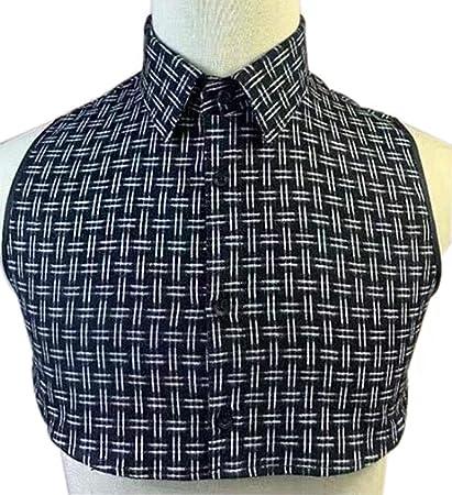 Cuello Falso de Solapa Desmontable para Hombre para suéter Blusa de Media Camisa Decorativa - Negro: Amazon.es: Coche y moto