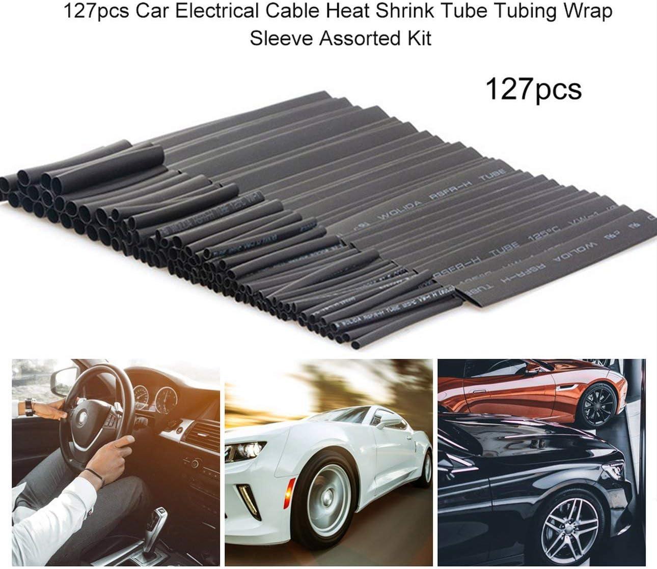 Ballylelly 127pcs Auto Elektrokabel Schrumpfschlauch Umweltschutz Flammhemmende Schl/äuche Wrap Sleeve Assorted Kit