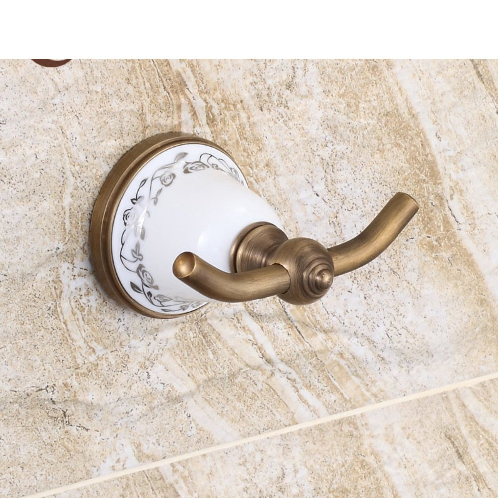 linked to the blue and white porcelain/European antique bathroom wall/ linked to copper metal/coat and hat hook durable modeling
