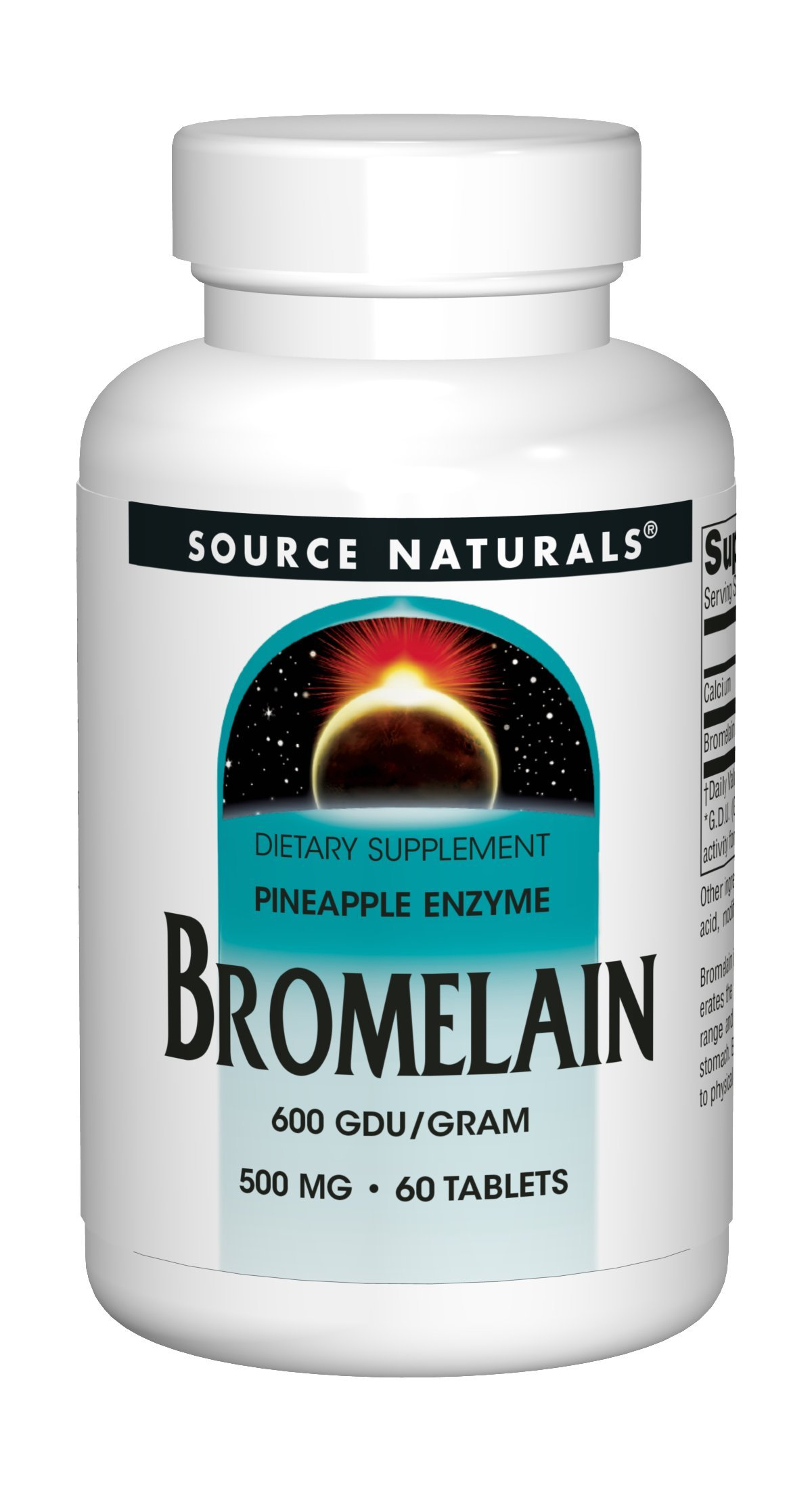 Source Naturals Bromelain 500mg Proteolytic Enzyme Natural Pineapple Supplement Digestive Support, Anti-Inflammatory Response, Nutrient Absorption & Essential Aid in Muscle Production 60 Tab