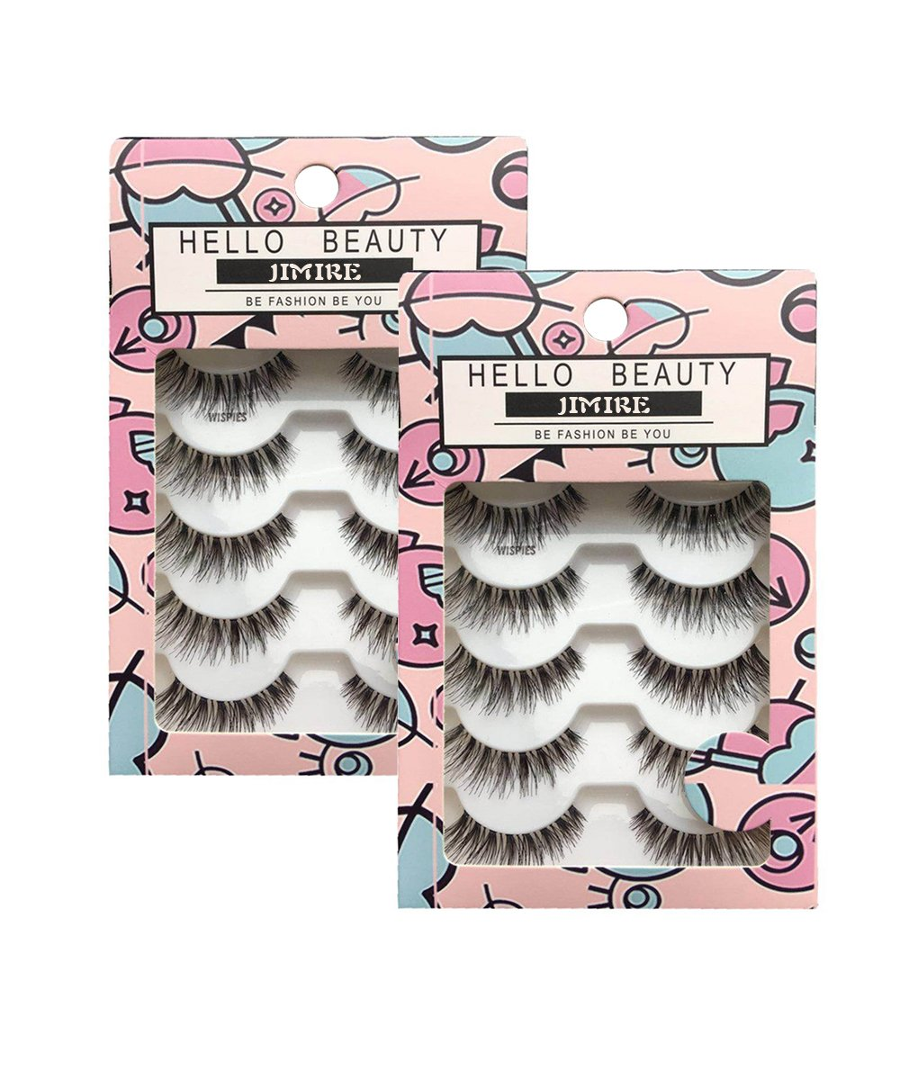 JIMIRE HELLO BEAUTY Multipack Demi Wispies Fake Eyelashes 2 Pack