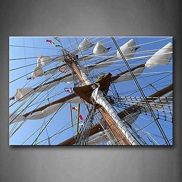 Schiff Leinwand In Der Wind Art Wand Die Bild Kunstdruck Auf