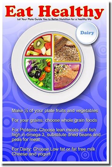 Amazon.com: Eat Healthy - Nutrition Poster: Prints: Posters & Prints