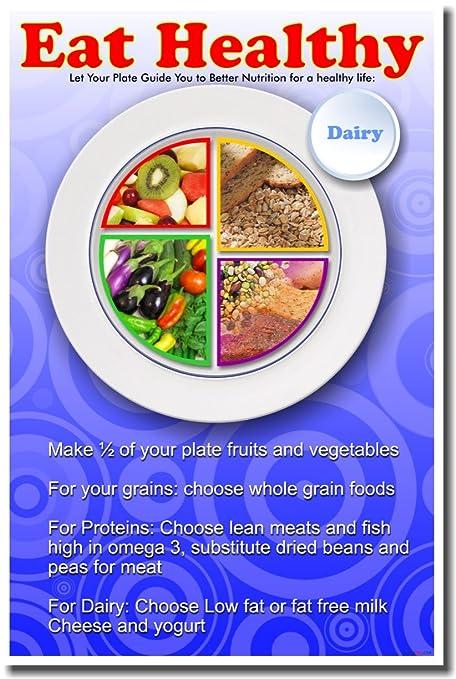 amazon com eat healthy nutrition poster prints posters prints