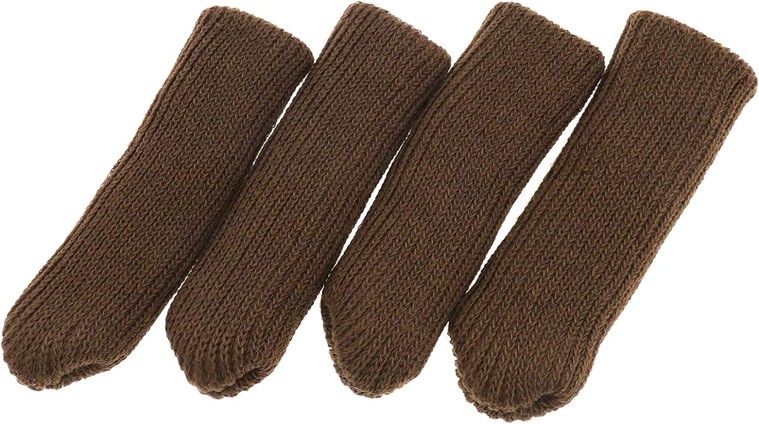 OTOTEC black//brown 32 pieces furniture table chair socks covers caps set floor protectors reduce noise double thickness knitted high elastic non-slip suitable 1.8 to 3 inches Black