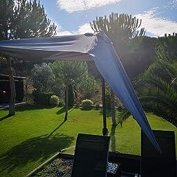 AKTIVE Garden 53877 Parasol rectangular, 200 x 300 cm, crema mástil aluminio: Amazon.es: Jardín