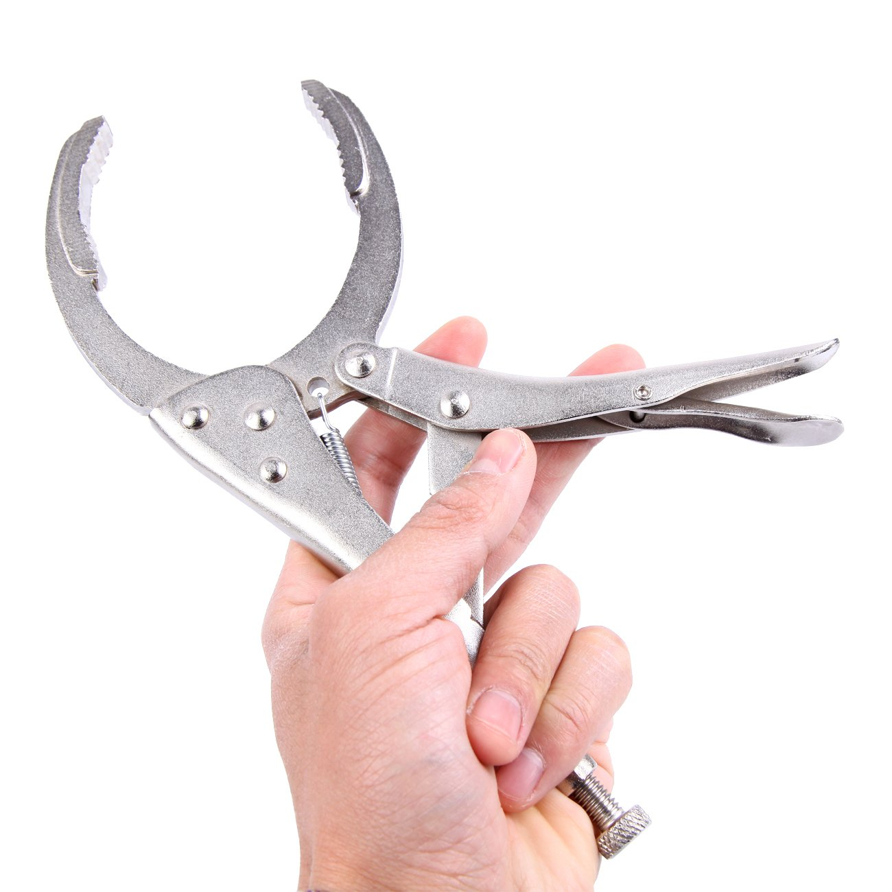 XuanYue Locking Grip Oil Filter Plier Vise Vice Style Filter Wrench plier for Filters or Cylinder Shapes