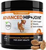 Glucosamine for Dogs - Dog Joint Supplement Support for Dogs with Glucosamine Chondroitin, MSM, Turmeric - Advanced Hip…