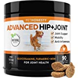 Glucosamine for Dogs - Dog Joint Supplement Support for Dogs with Glucosamine Chondroitin, MSM, Turmeric - Advanced Hip and J