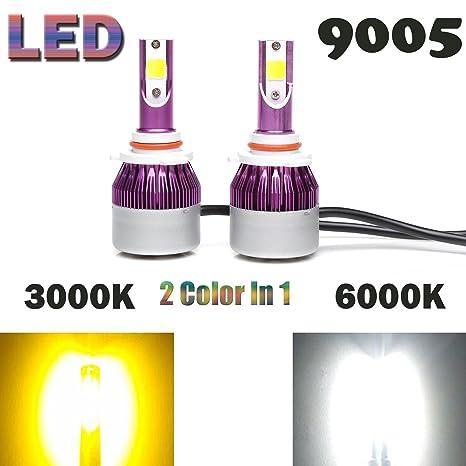 HB4 9012 9006 bombillas LED de los faros antiniebla Luces Lámparas Kit de conversión Dual Color