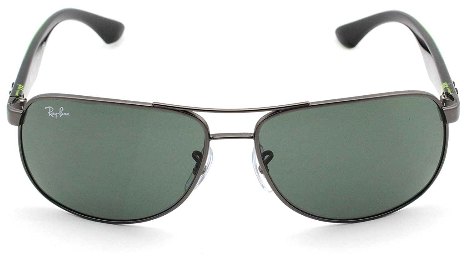 497636f177 Amazon.com  Ray-Ban RB3502 029 Pilot Sunglasses Gunmetal Frame   Green  Classic Lens 61mm  Clothing