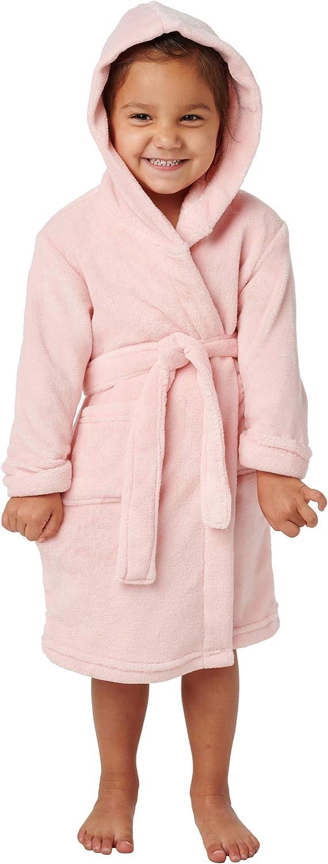 Alexander Del Rossa Kid's Soft Fleece Robe with Hood, Boys and Girls Bathrobe: Clothing