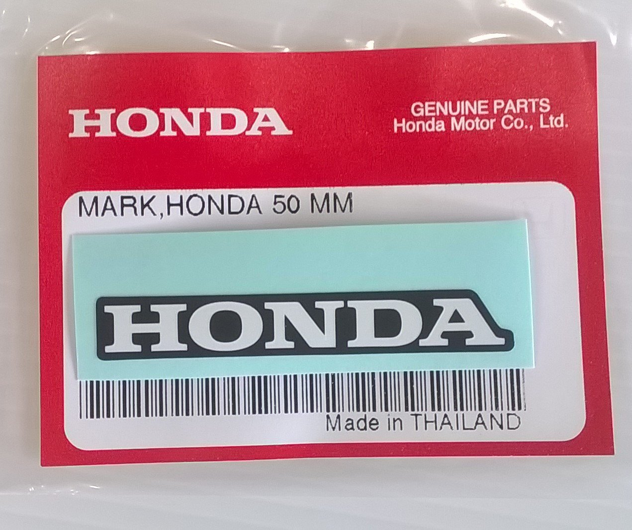 HONDA 'Mark' 50mm Sticker Decal WHITE / BLACK 100% GENUINE