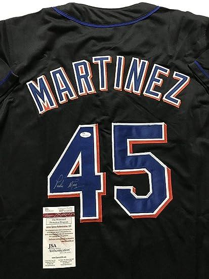 reputable site 1e3b2 06802 Autographed/Signed Pedro Martinez New York Black Baseball ...